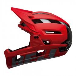 casco Bell Super Air R Flex + Mips rosso/grigio